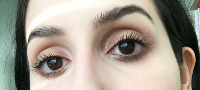 AFTER using Benefit 'They're Real!' Magnet Mascara