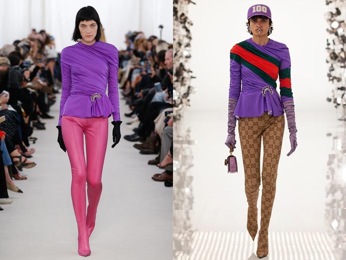 *Images: Balenciaga Spring 2017 / Gucci 2021.*