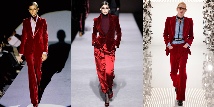 *Images: Tom Ford Fall 1996 / Tom Ford Fall 2019 / Gucci 2021.*