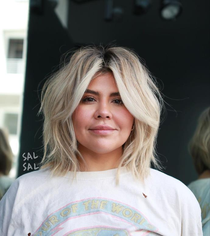 **The Shag Haircut Without A Fringe**<br><br>  Contrary to what you might think, not all shag haircuts necessitate a fringe. If you want to try the trend but have an aversion to *any* hair in your eyes, the modern shag looks excellent with a few very manageable layers around the face.   <br><br>*Image via Instagram @salsalhair.*