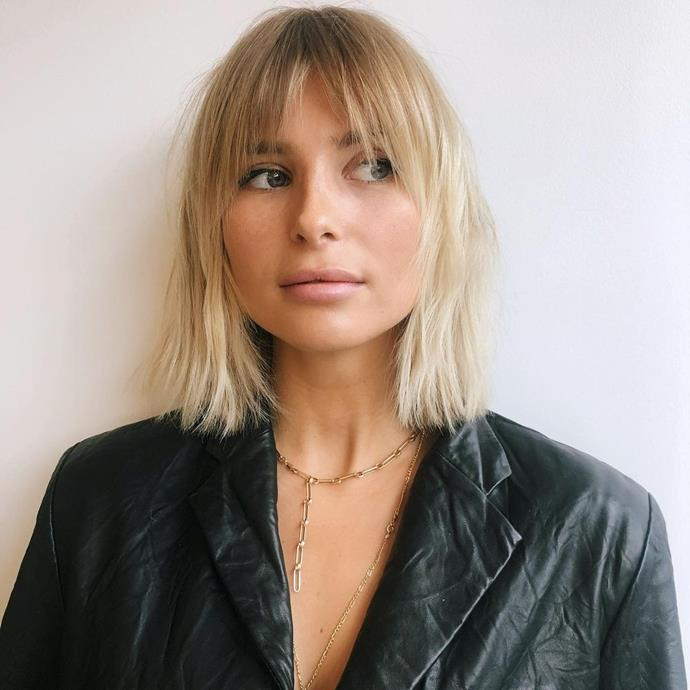 **The Short, Straight Shag Haircut**<br><br>  If your hair is straight, don't worry, there's a shag hairstyle for everyone. This short shag haircut gives the '70s effect with a wispy, staggered fringe and piecey layers. Bonus points if you want to emmulate the grown-out blonde.  <br><br>*Image via Instagram @erickinvisible.*