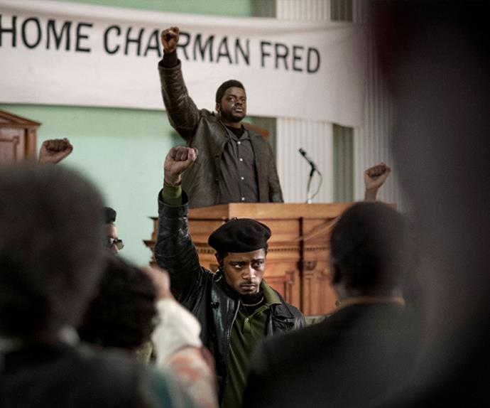 ***Judas and the Black Messiah*** <br><br> The American biographical drama depicts the betrayal of Fred Hampton (played by by Daniel Kaluuya), chairman of the Illinois chapter of the Black Panther Party in late-1960s Chicago, at the hands of William O'Neal (played by Lakeith Stanfield), an FBI informant.  <br><br> Nominations: The film is nominated in six categories this year, including Best Picture, with Stanfield and Kaluuya both being nominated for Best Supporting Actor.  <br><br> Where to watch: *Judas and the Black Messiah* is currently showing in cinemas across Australia and is available to rent or purchase on Prime Video.