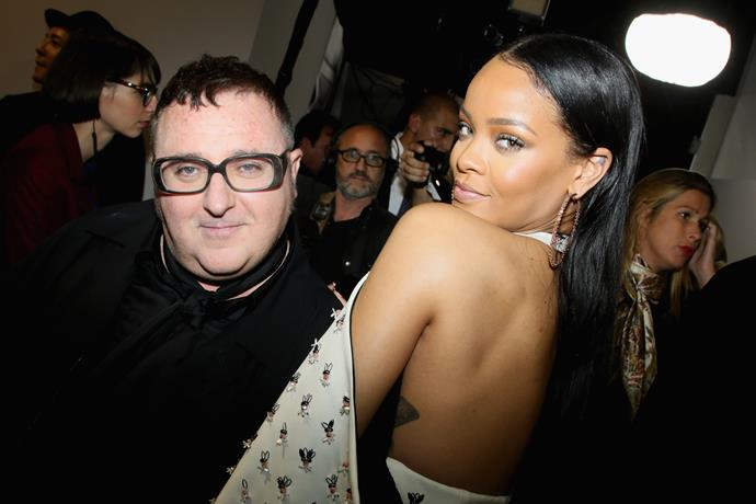Alber Elbaz and Rihanna