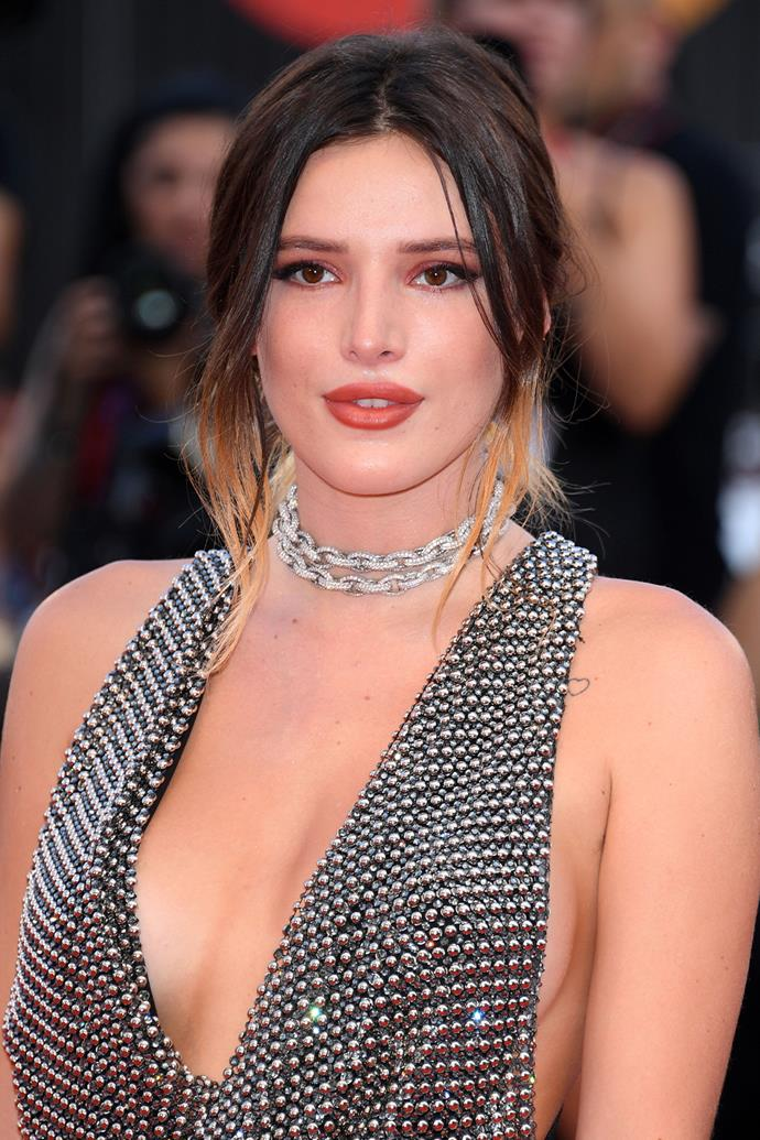 "**Bella Thorne**<br><br>  Bella Thorne told the *[LA Times](http://www.latimes.com/entertainment/movies/la-ca-mn-bella-thorne-20181018-story.html|target=""_blank""