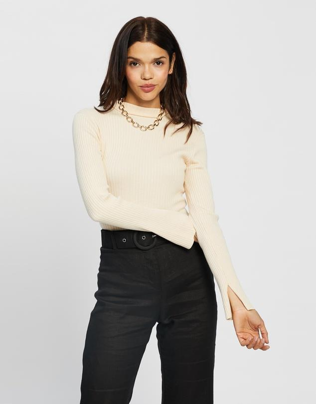 """AERE Ribbed Knit Turtle Neck Sweater, $99; at [THE ICONIC](https://www.theiconic.com.au/ribbed-knit-turtle-neck-sweater-1162660.html target=""""_blank"""" rel=""""nofollow"""")"""