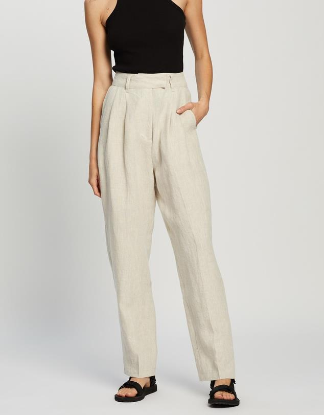 """AERE Straight Leg Pants, $120; at [THE ICONIC](https://www.theiconic.com.au/straight-leg-pants-1123942.html