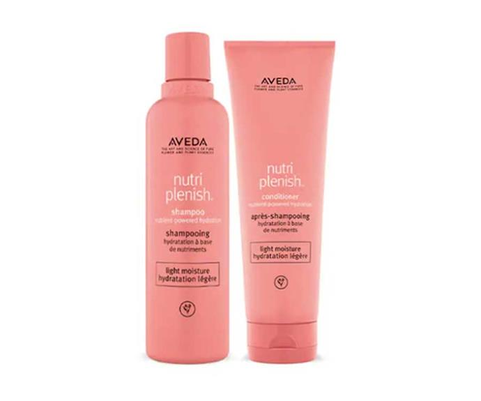 "Aveda Nutriplenish Light Shampoo & Conditioner, $103; [shop here](https://www.aveda.com.au/product/17976/75881/best-sellers/nutriplenishtm-light-shampoo-and-conditioner#|target=""_blank""