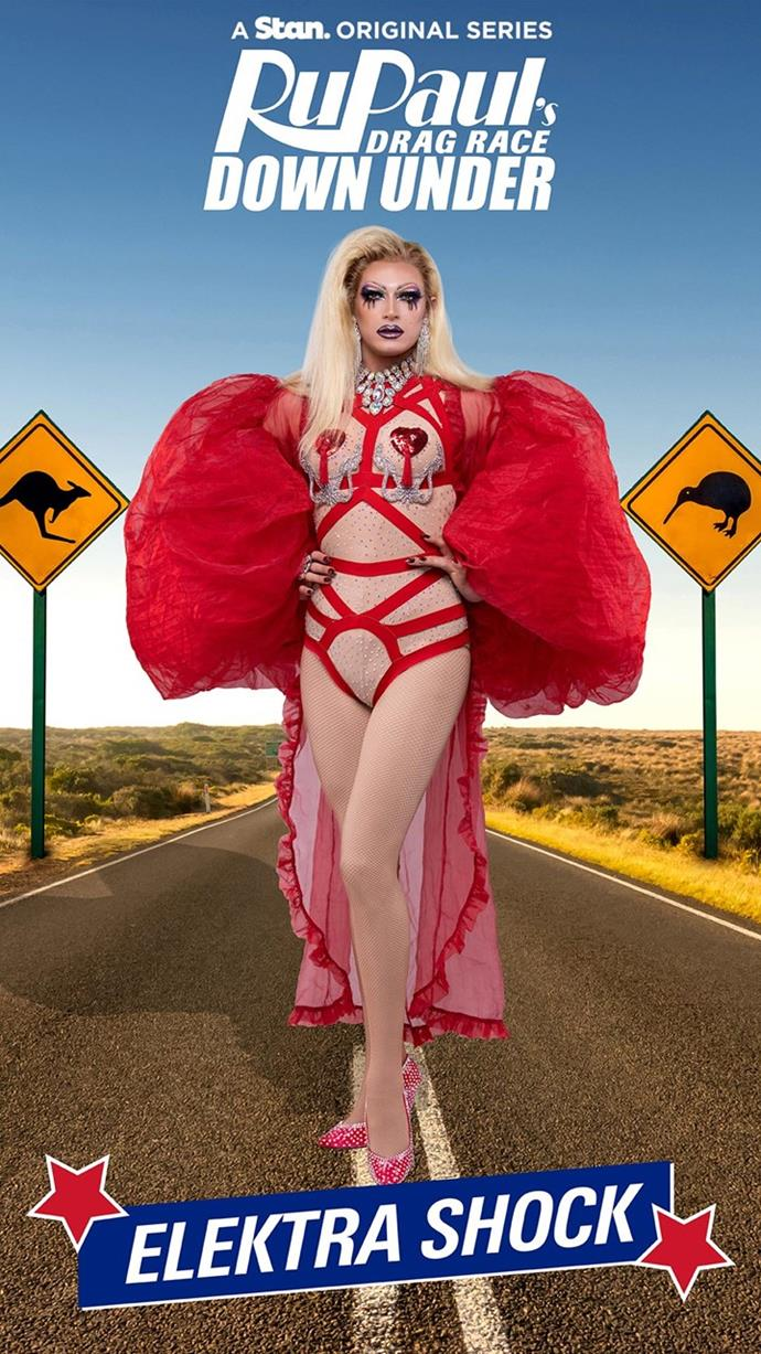 "**Elektra Shock** (Auckland, NZ)<br><br>  Meet Elektra Shock, the Dancing Queen of Tāmaki Makaurau. The NZ Herald described her as ""utterly charismatic"" and when you consider her dancing and singing ability, it's not hard to see why. Since beginning her drag career in 2012, her achievements include being runner up on Season 2 of TVNZ *House of Drag* and the star of *Pleasuredome The Musical*.<br><br>  Follow Elektra Shock on Instagram: [@therealelektrashock](https://www.instagram.com/therealelektrashock/