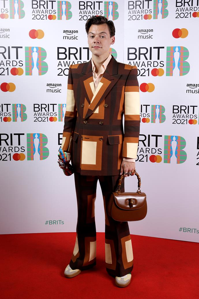 *Harry Styles wears Gucci at the 2021 Brit Awards.*