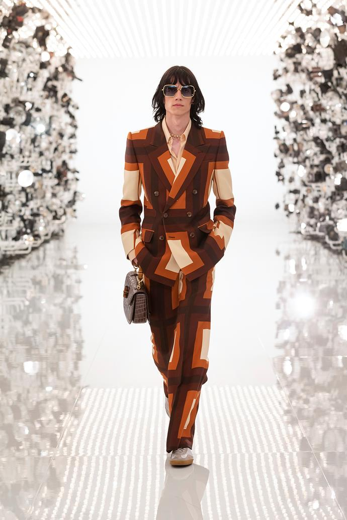 The look as it appeared at the Gucci Aria show in April.
