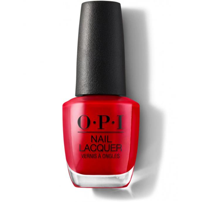 """Big Apple Red by OPI, $22.95 at [Adore Beauty](https://fave.co/33DkC8p