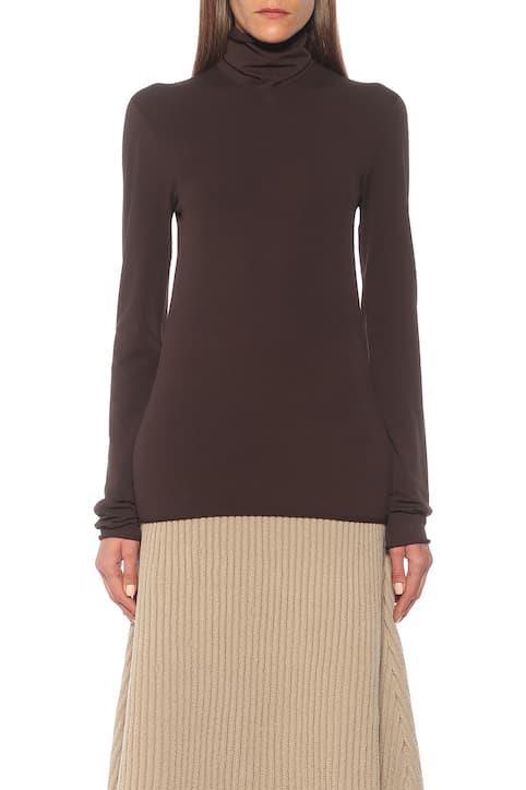 "Bottega Veneta Turtleneck Sweater, $1,400; at [MyTheresa](https://www.mytheresa.com/en-au/bottega-veneta-turtleneck-sweater-1650480.html|target=""_blank""|rel=""nofollow"")"
