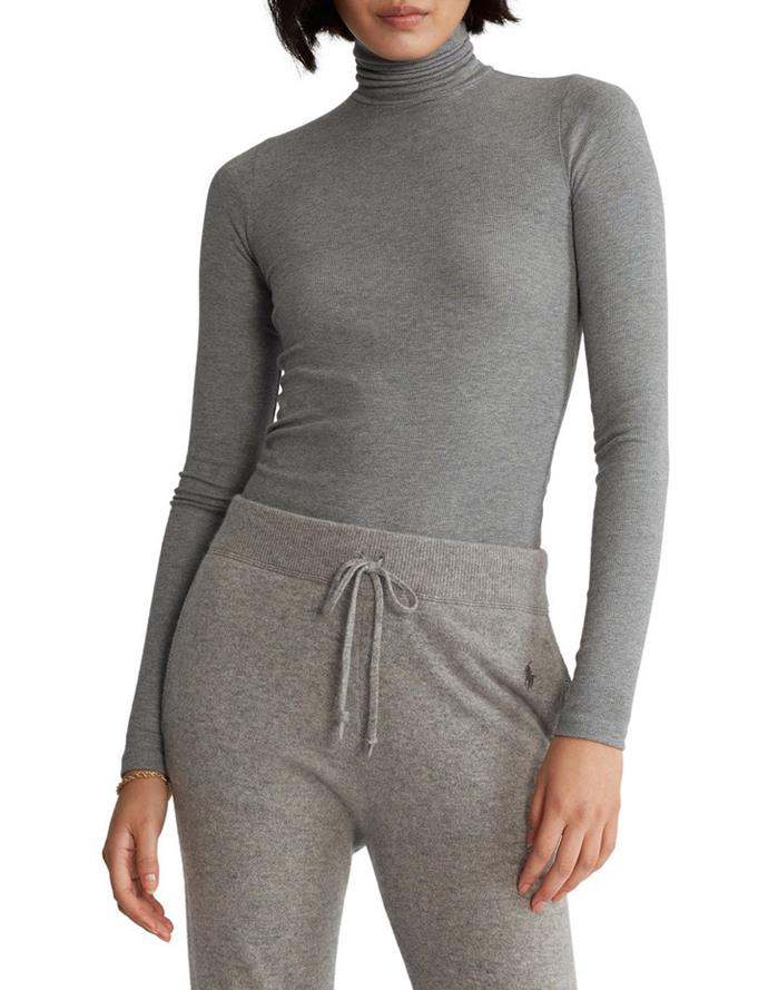 """Polo Ralph Lauren Stretch Ribbed Turtleneck, $159; at [Myer](https://www.myer.com.au/p/polo-ralph-lauren-stretch-ribbed-turtleneck-828467740-1