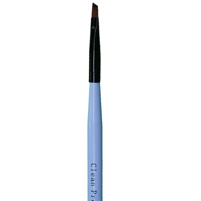 """Clean Pro Angular Brush, $15 at [Mitty](https://mitty.com.au/products/clean-pro-angular#:~:text=Cleaning%20Nail%20Art%20Brushes%3A,of%20non%2Dacetone%20polish%20only.