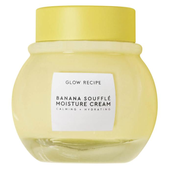 "Glow Recipe Banana Soufflé Moisture Cream, $59 from [Mecca](https://www.mecca.com.au/glow-recipe/banana-souffle-moisture-cream/V-813764.html?cgpath=brands-glowre target=""_blank"" rel=""nofollow"")."