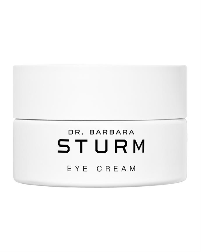 """Dr. Barbara Sturm Eye Cream, $212 from [Mecca](https://www.mecca.com.au/dr-barbara-sturm/eye-cream/I-031655.html?gclid=Cj0KCQjwwLKFBhDPARIsAPzPi-IZH3sBYw50Yr1x1e16TNEIYZ1b6UB1ibBxZDZlODwB9XtWCmLhjZ4aAk37EALw_wcB&gclsrc=aw.ds target=""""_blank"""" rel=""""nofollow"""")."""