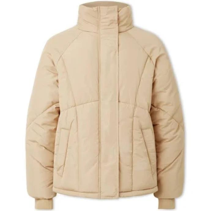 """Puffer Jacket, $54.95 at [Seed Heritage](https://fave.co/2UO5MLt target=""""_blank"""" rel=""""nofollow"""")."""