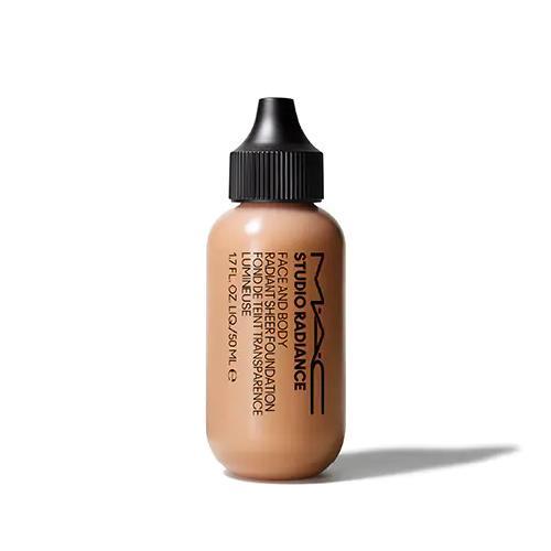 "Studio Radiance Face + Body Sheer Foundation, $55 at [MAC Cosmetics](https://www.maccosmetics.com.au/product/13847/86415/products/makeup/face/foundation/studio-radiance-face-and-body-radiant-sheer-foundation#|target=""_blank""|rel=""nofollow"")."