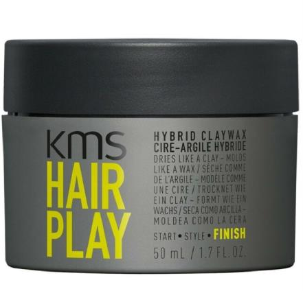 """Hairplay Hybrid Clay Wax by KMS, $32.95 at [Hair House](https://www.hairhouse.com.au/HairPlay-Hybrid-Claywax-50ml target=""""_blank"""" rel=""""nofollow"""")."""