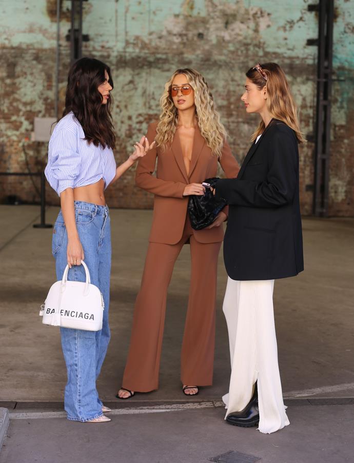 "[Ashton Wood](https://www.instagram.com/ashtonwood/|target=""_blank""|rel=""nofollow"") wearing Glassons top, A Brand pants, Steve Madden shoes and Balenciaga bag; and [Saskia Teje Jenkins](https://www.instagram.com/saskiateje/?hl=en|target=""_blank""|rel=""nofollow"") wearing Anna Quan pants, Studio Pfeiffer T-Shirt, vintage blazer and Chloé boots."