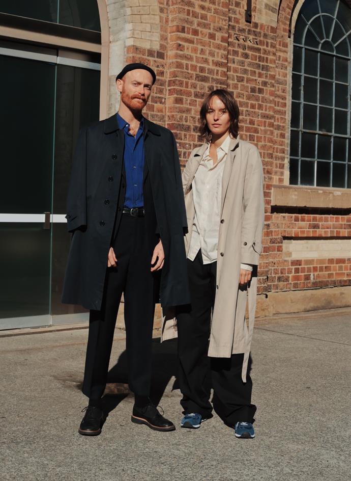 "[Maxwell Finch](https://www.instagram.com/maxwellfinch/|target=""_blank""|rel=""nofollow"") wearing vintage YSL and Jil Sander; [Claudia Smith](https://www.instagram.com/smithclaudia/|target=""_blank""|rel=""nofollow"") wearing Esse Studios. <br><br> Photography by: [Nikki Chowdhury](https://www.instagram.com/nikkidury/?hl=en|target=""_blank""|rel=""nofollow"")"