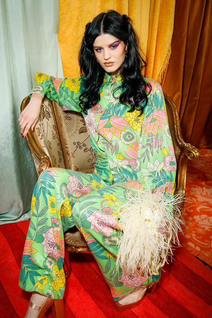 **'70s Meets '80s** <br><br> *Image: Alice McCALL Resort '22 show.*