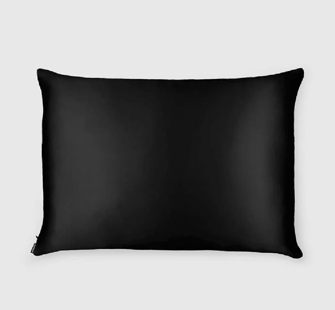 "Silk Pillowcase in Black, $57 at [Shhh Silk](https://fave.co/3fXts8b|target=""_blank""|rel=""nofollow"")."