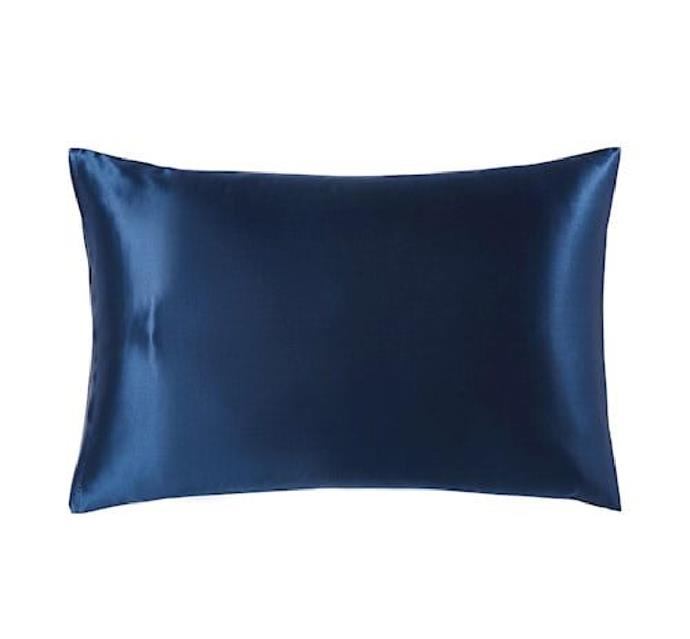"""Pure Silk Midnight Pillowcase by Home Republic, $63.99 at [Adairs](https://fave.co/3prSK1a