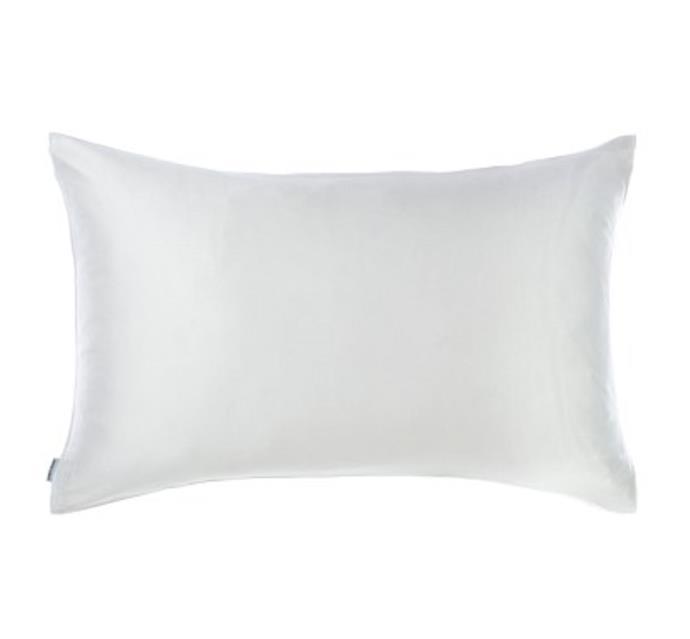 "Lillian Silk Pillowcase, $55.97 at [David Jones](https://fave.co/3wZD6g8|target=""_blank""|rel=""nofollow"")."