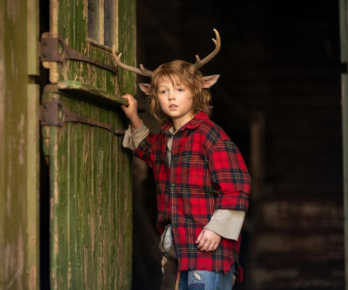 """**Christian Convery as Gus (or """"Sweet Tooth"""")** <br><br> At just 11 years old, Canadian actor Christian Convery takes on the helm of Netflix's *Sweet Tooth* as Gus, a sheltered and naive half-human, half-deer boy who sets out on a quest to find his mother. He gets his nickname in the series from travel companion, Tommy, who calls him """"Sweet Tooth.""""  <br><br> He may only be young, but Convery has an incredibly impressive Hollywood resume having worked with some of the industry's biggest names—including Dennis Quaid, Queen Latifa and Katherine McPhee Foster in *Tiger Rising*, as well as Judy Greer and John Cena in *Playing With Fire.*"""