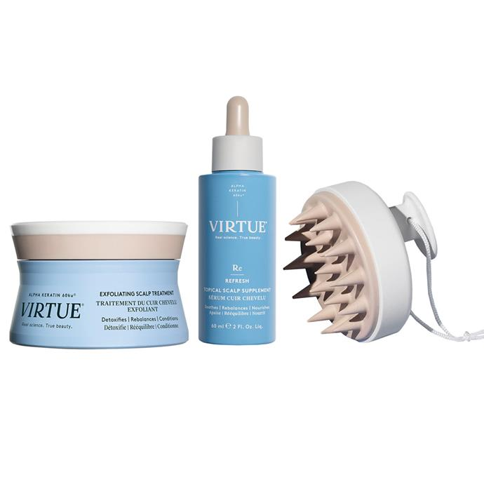 """Scalp & Hair Treatment Kit by VIRTUE, $129 at [Adore Beauty](https://fave.co/3vinMd3 target=""""_blank"""" rel=""""nofollow"""")."""