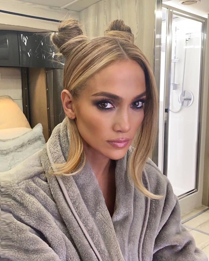 """**Space Buns** <br><br> A hit on the '90s grunge scene, Space Buns are back and better than ever—just ask [Jennifer Lopez](https://www.marieclaire.com.au/jennifer-lopez-space-buns target=""""_blank"""" rel=""""nofollow""""). Nail the look with a sleek centre part, twisting each half of hair into a bun, sitting on each side of the crown. For those looking to amp up their commitment to grunge, aim for an artfully unkept look, leaving small sections of locks out from both sides and the front. <br><br> *Image: [@chrisappleton1](https://www.instagram.com/p/CHdXQuqh0q8/ target=""""_blank"""" rel=""""nofollow"""")*"""
