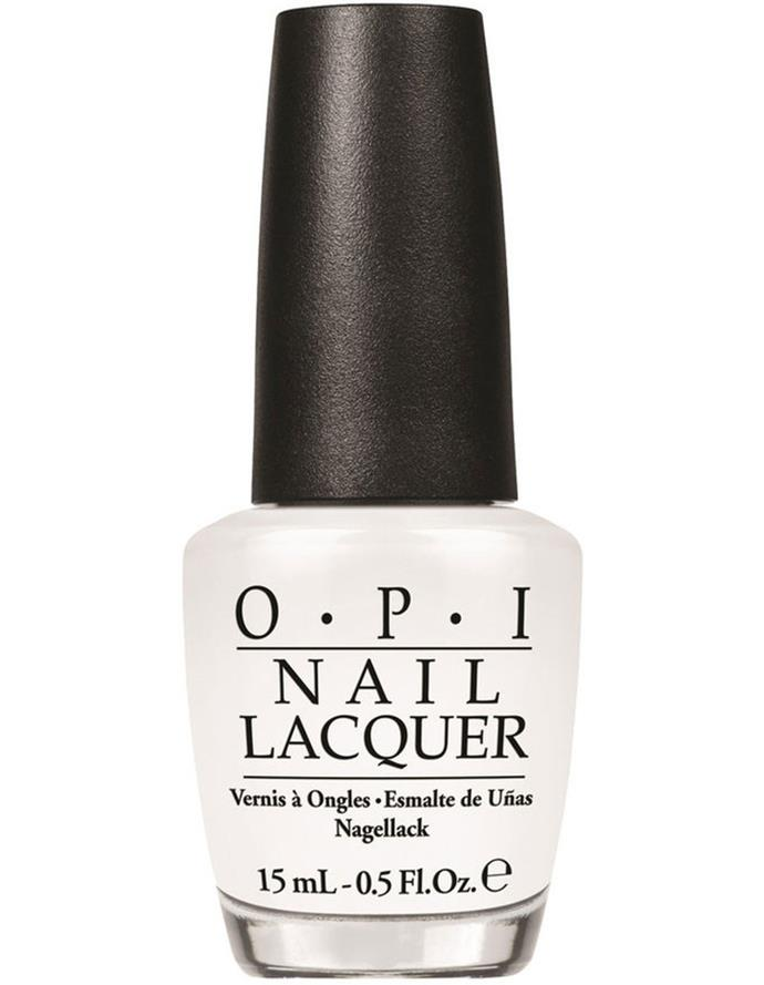 """Alpine Snow by OPI, $19.95 at [Myer](https://fave.co/3zySWAC target=""""_blank"""" rel=""""nofollow"""")."""