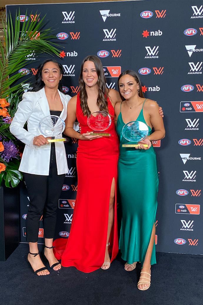 AFLW Awards winners 2021: Darcy Vescio, Chloe Molloy and Monique Conti