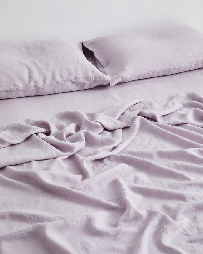 """*Lilac 100% Flax Linen Fitted Sheet, starting from $90 from [Bed Threads](https://go.skimresources.com?id=105419X1569491&xs=1&url=https%3A%2F%2Fbedthreads.com.au%2Fproducts%2Flilac-100-flax-linen-fitted-sheet%3Fvariant%3D39349270904966 target=""""_blank"""" rel=""""nofollow"""").*"""