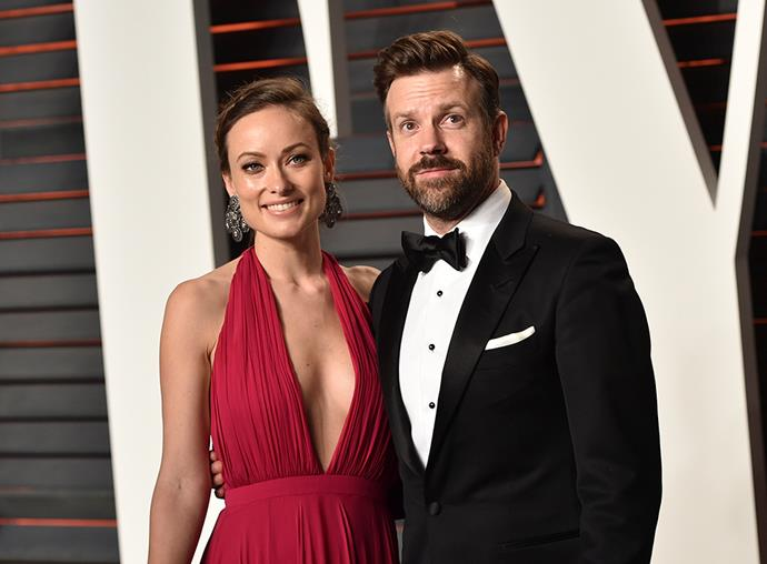 * Olivia Wilde and Jason Sudeikis arrive at the 2016 Vanity Fair Oscar Party in Beverly Hills, California. *
