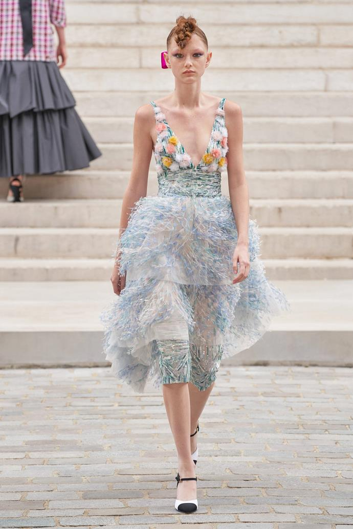 """**Virginie Viard's Impressionist Chanel couture**<br><br>  I loved a lot of moments from Chanel's Fall 2021 Couture Collection, but this dress was undeniably a standout. Virginie Viard drew inspiration from two female artists of the 19th Century—Berthe Morisot and Marie Laurencin. Drawing on the soft brushstrokes of famous French paintings, this dress is soft in colour but so rich in artistic detail. Abstract flowers, delicate tulle and hand-stitched sparkle were all a beautiful nod to Impressionist paintings, and it truly does look like a work of art.<br><br>   *— [Lucy Cocoran](https://www.instagram.com/lucycocoran/