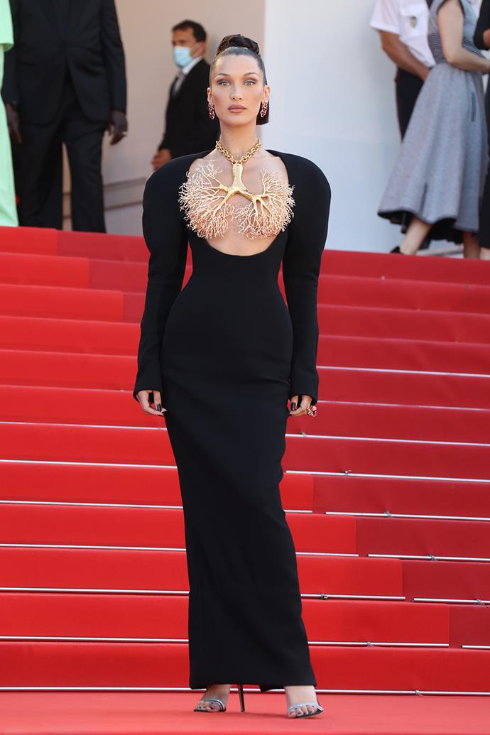 Bella Hadid in Schiaparelli