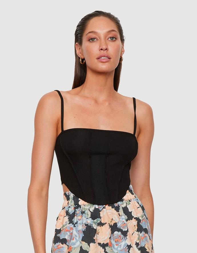 """The Amalfi Crop in Black by ATOIR, $119.95 at [THE ICONIC](https://fave.co/3xVgjCU