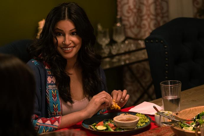 **Richa Moorjani as Kamala** <br><br> Kamala is Devi's older cousin, who lives with her and her mother, while she finishes her PhD. <br><br> Richa has appeared in *The Mindy Project*, *NCIS: Los Angeles*, *9-1-1* and *Indian film X: Past Is Present*.