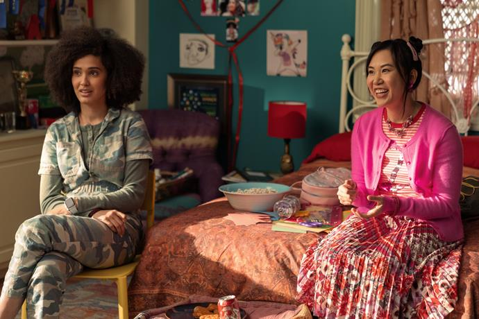 **Lee Rodriguez as Fabiola Torres and Ramona Young as Eleanor Wong** <br><br> Fabiola, a self-confessed geek with a love for pop culture, and Eleanor, a lover of theatre, are Devi's two best friends. Back in season one, Fabiola came out to her BFFs and has since started a relationship with Eve, while Eleanor was the first in their trio to get a boyfriend. <br><br> Lee Rodriguez has previously starred in *Grown-ish* and *Class of Lies*, and Ramona is best known for playing Angelica in *Blockers*, Allison on *The Real O'Neals* and Ramona on *Santa Clarita Diet*.