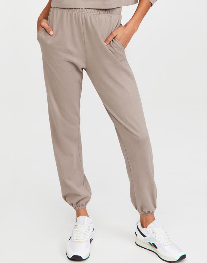 "Slim Leg Bell Hem Sweatpants by Ninety Percent, $149.51 at [Shopbop](https://fave.co/36VfE8Y target=""_blank"" rel=""nofollow"")."