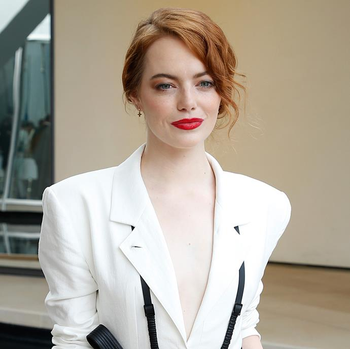 """**Emma Stone** <br><br> While keeping her personal life under lock and key, it turns out her favourite fragrance is also not known by many. Opting for Chanel's private blend, she revealed that she wears Chanel's Gardénia in a 2014 interview, adding that she """"sprays it on her pillow"""" to ensure she gets a good sleep."""