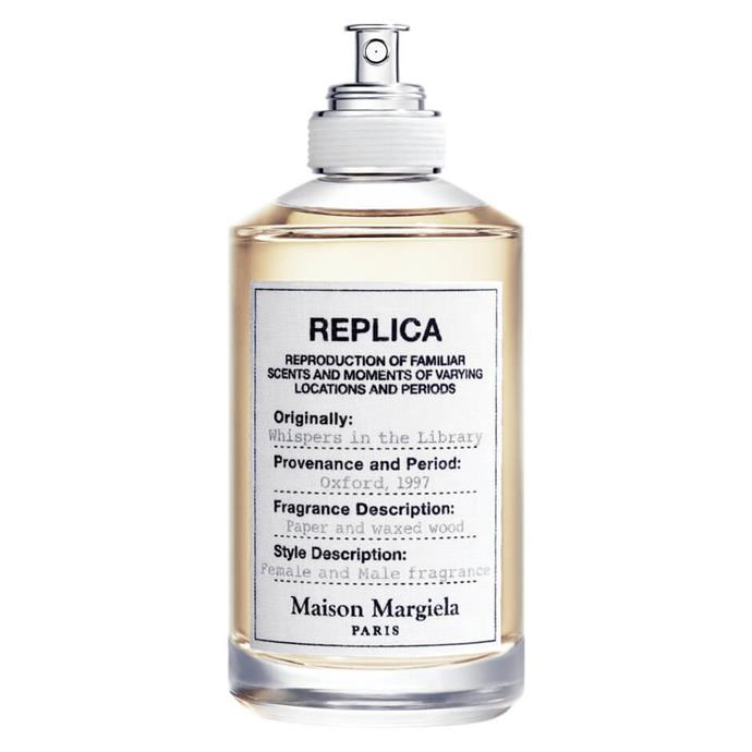 """**[Maison Margiela REPLICA Whispers In The Library, $185](https://www.mecca.com.au/maison-margiela/whispers-in-the-library-edt-100ml/I-037394.html