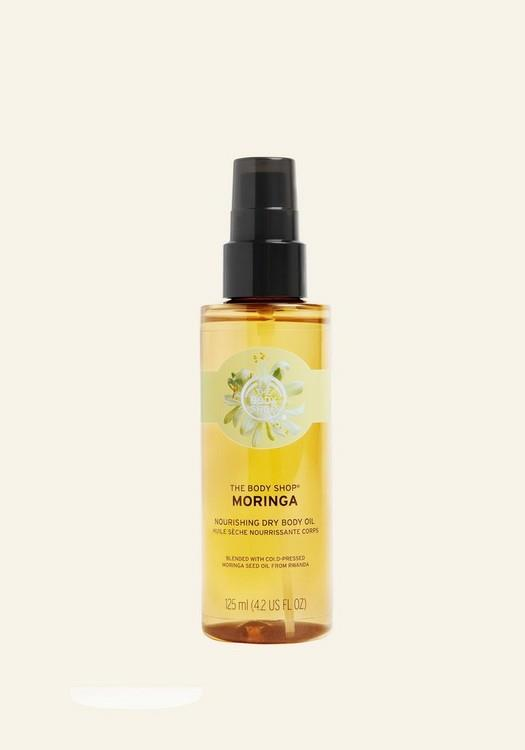 """**Best for dry skin**<br> *Moringa Nourishing Dry Body Oil, for $25 at [The Body Shop](https://www.thebodyshop.com/en-au/body/spa-and-oils/moringa-nourishing-dry-body-oil/p/p003668