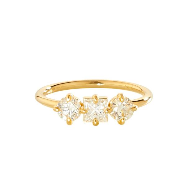 """Trilogy Diamond Ring, AUD $6732 at [Catbird NYC](https://fave.co/37G9slj
