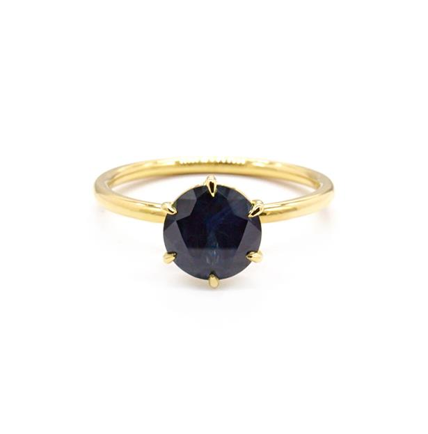 """Signature Solitaire 1.51ct Australian Blue Sapphire, AUD $5653 at [Natalie Marie Jewellery](https://fave.co/3skIWHW