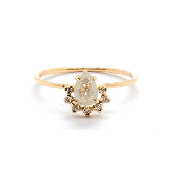 """Petite Rose with Grey Diamond, AUD $1720 at [Natalie Marie Jewellery](https://fave.co/3sb8kzA