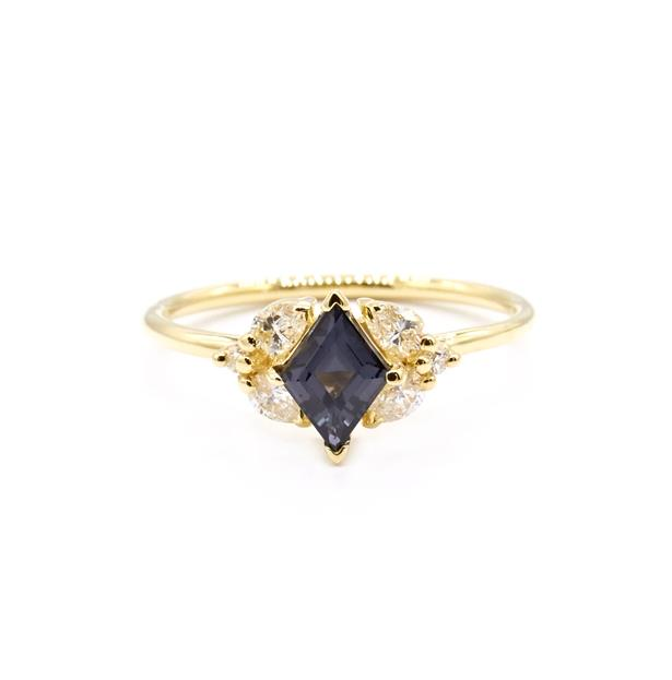 """Saana Ring with Grey Spinel and White Diamonds, AUD $2890 at [Natalie Marie Jewellery](https://fave.co/3yDAlCp