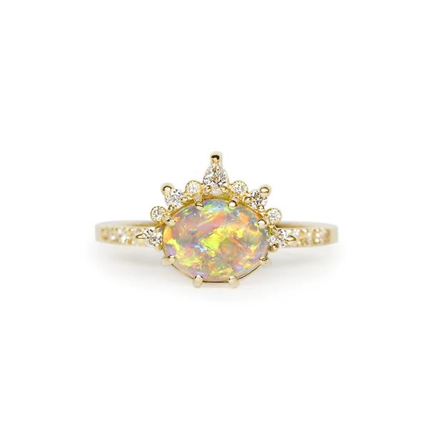 "Tiara Opal Ring, AUD $7940 at [James and Irisa](https://fave.co/3iGsJcM|target=""_blank""|rel=""nofollow"")."